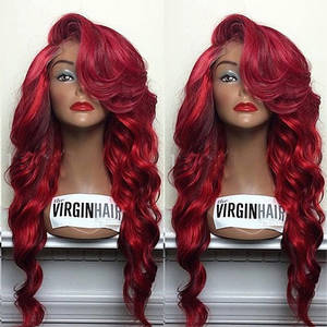 Wholesale hair color chart: Fashionable Body Wave Human Hair Lace Front Wig