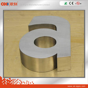Wholesale led outdoor signs: Outdoor LED Backlit Stainless Steel Letter Sign with Plated in Rose Gold
