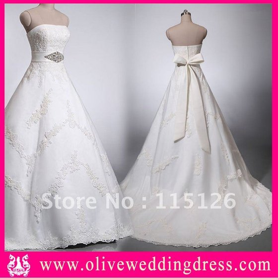 Tulle Real White Sample Bridal Wedding Gown Dress 2012(id:7232653 ...