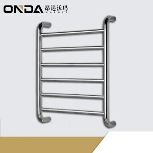 Wholesale baby clothing factory china: Modern Wall Mounted Stainless Steel Black Heated Towel Rack Warmer