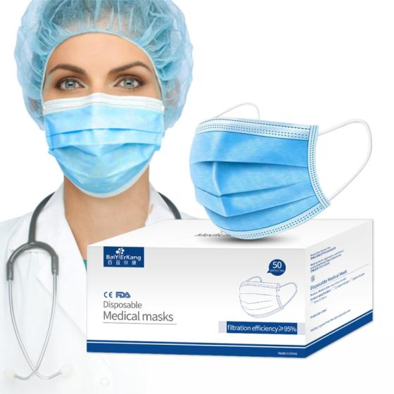 Sell Wholesale CE Medical Earloop 3ply 3 ply Disposable