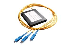 Wholesale splitter: Fiber Optical with Output Fiber and Connector for FTTX 1x2 Box Type PLC Splitter