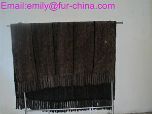 Wholesale knitted throw: Knitted Mink Fur Throw Fur Blanket
