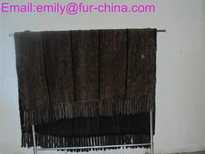 Wholesale throw blanket: Knitted Mink Fur Throw Fur Blanket