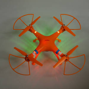 Wholesale 6 axis gyro: SYMA X8C 2.4G 4CH 6-Axis Gyro RC Quadcopter RTF Drone with 2MP HD Camera Orange