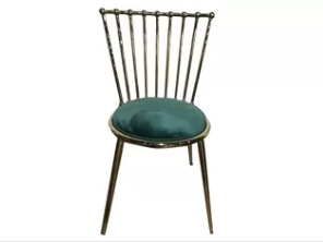 Wholesale dining chair: Electroplating Iron Frame 81.5cm Dark Green Dining Chairs
