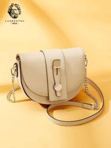 Wholesale lady shoulder bag: 2019 New Saddle Bag Lady's Crossbody Leather Lady's Bag All-purpose One-shoulder Chain Small Bag