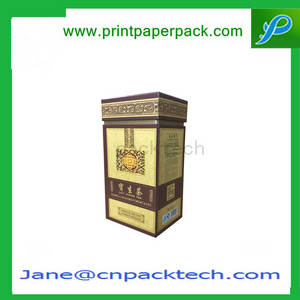 Wholesale wine package box: OEM Printing Tea Packaging Box Wine Box Rigid Top and Bottom Boxes