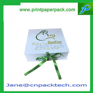 Wholesale Paper Boxes: Fashionable Ribbon Foldable Magnetic Box Paper Gift Box