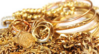 Solid Scrap Gold Metal Chains Necklaces and Bracelets