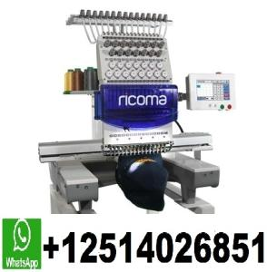 Wholesale Apparel Machinery: BRAND NEW RCM-1501TC RiComa 1 Head 15 Needle Commercial Embroidery Machine