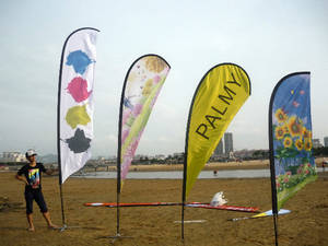 Wholesale flags: Teardrop Banner Beach Flag Stand Base Water Bag