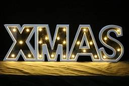 Wholesale Night Lights: Classic Wooden Alphabet Xmas' Letters with LED Lighted Marquee Letters
