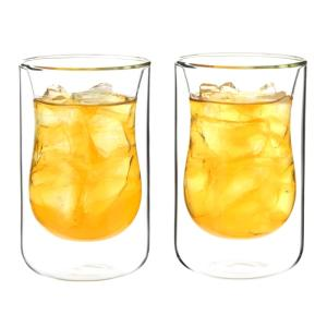 Wholesale double wall cup glass: Heat Resistant Borosilicate Double Wall Glass Tea Cups