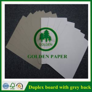 Wholesale Duplex Board: A Grade White Coated Duplex Board Grey Back/Recycle Wood Pulp Borad for Packing