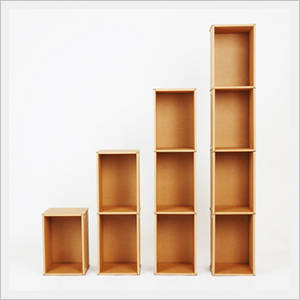 Wholesale Bookcases, Bookshelves: Cardboard Bookshelf