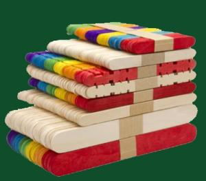 Wholesale wooden toy: Colored Wooden Ice Cream Sticks for Toy / Colored Toy Bars
