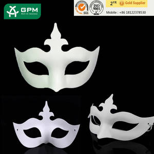 Wholesale full face mask: 2015 Factory Wholesale Full Face Blank White Masquerade Masks for Party