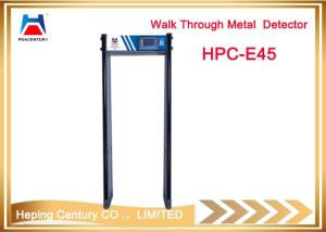 Wholesale security detector: Hot Sales 45 Zones Walk Through Military Security Metal Detector Door LCD Sceen