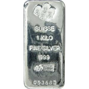 Wholesale Silver & Sterling Silver Jewelry: Silver Bars / 1 Kg PAMP Suisse Silver Cast Bar