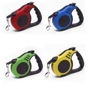 Wholesale length: 3M 5M Length Adjustable Nylon Tape Retractable Dog Leash for Small and Large Dog with Snap Hook