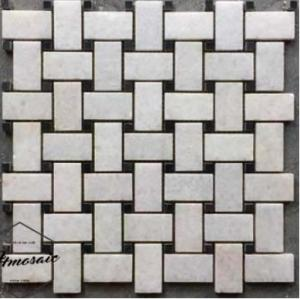 Wholesale x46: Chip 23x46mm White Weave Marble Mosaic