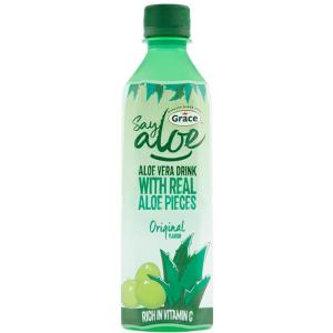 Wholesale aloe vera juices: 500ml Aloe Vera Drink Low Sugar with Aloe Pulps Healthy Drink