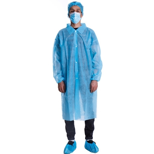 Disposable Hospital Doctor Blue Non Woven Lab Coats