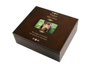 Wholesale memorial urns: Wooden PET Keepsake Box