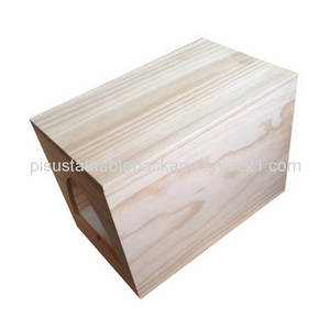 Wholesale wooden wine box: Custom Made Unfinished Plain Wooden Wine Box