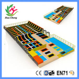 Wholesale super elastic: Super Jump Trampoline Park with Slam Dunk and Strong Elasticity Spring