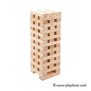 Wholesale wooden game: 60pcs Giant Tower Wooden Garden Games Wooden Blocks Set