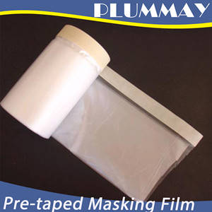 Wholesale paint baking room: Pre-taped Masking Film PE Protection Film Used in Paint Industries