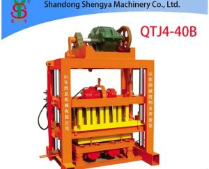 Wholesale Brick Making Machinery: QTJ4-40B Hot Sale Small Concrete Block Machine of Interlocking Bricks and Blocks