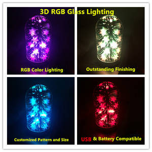 Wholesale usb: USB 3D Rgb Glass Lighting