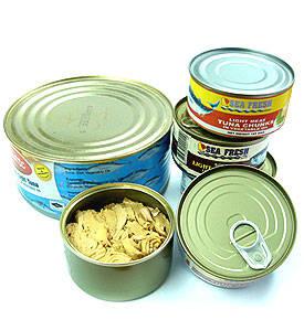 Wholesale tuna chunk: Canned Chunk Skipjack Light Meat Tuna in Non GM Soybean Oil