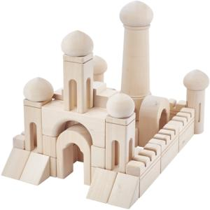 Wholesale construction safety equipment: Wooden Castle Building Set for Children
