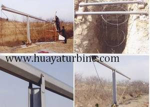 Wholesale wind turbine crane: Tilting Up Tower for Wind Turbines 6m-15m