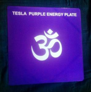 Wholesale healing: Tesla Purple Energy Healing and Reviving Plates-Post Card Size