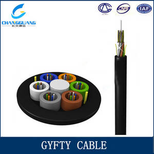 Wholesale outdoor fiber optic cable: GYFTY Outdoor Non-metallic Fiber Optic Cable 2F Metallic Fiber Optic Cable