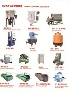 Wholesale Rhinestones: Color Mixer, Plastic Crusher, Air Compressor Used for Making Shoes