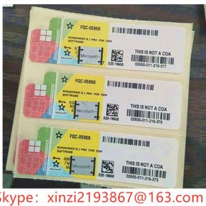 Wholesale windows 8.1 professional: Microsoft Windows 8/Win 8.1 Professional OEM Coa Stickers 32/64 DVD English Packaging Online Activat