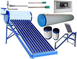 Wholesale solar water heater: Evacuated Tube Solar Collector Solar Hot Water Heater