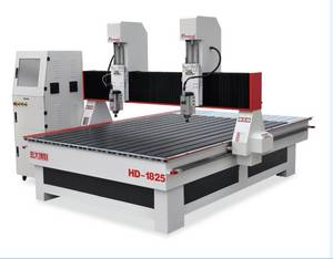 Wholesale ball screw motorized xy table: Two-head 3D CNC Router