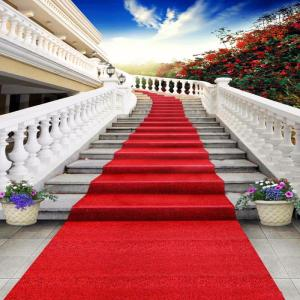 Wholesale event: Nonwoven Expo Exhibition Events Stair Plain Carpet Rolls Wedding Carpet Runner with Film