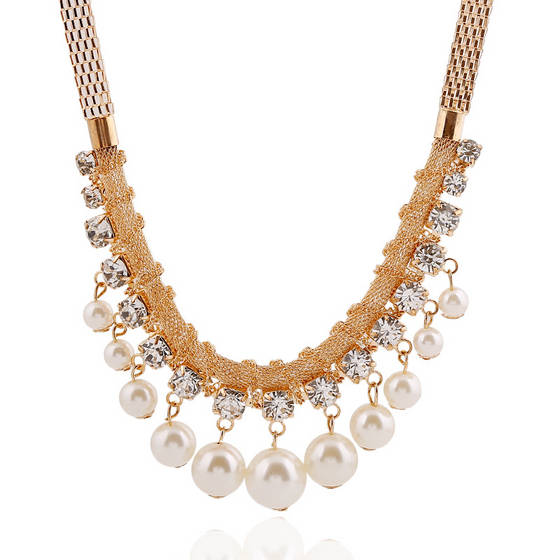 Sell Diamond pearl sweater necklace