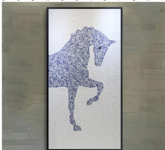 New Chinese Style Mosaic Creative Ceramic Pieces To Success Background Wall Decoration Painting