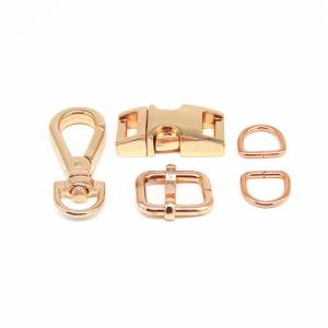 Wholesale metal roofing factory price: Rose Gold Metal Quick Side Release Buckles