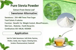 Wholesale Sweeteners: China Supplier Natural Sweetener Stevia Extract for Food and Beverage