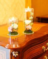 Glass Candle Tealight Holder Bottle/ Vase/ Decroation